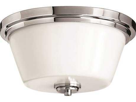 Hinkley Lighting CFL Flush Mount Chrome Two-Light CFL Flush Mount Light