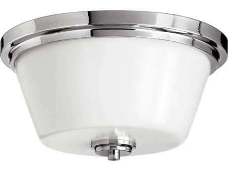 Hinkley Lighting Flush Mount Chrome 15'' Wide LED Flush Mount Ceiling Light