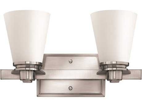 Hinkley Lighting Avon Brushed Nickel Two-Light CFL Vanity Light