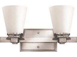 Hinkley Lighting Avon Brushed Nickel Two-Light CFL Vanity Light