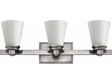 Hinkley Lighting Avon Brushed Nickel Three-Light 23'' Wide GU24 CFL Vanity Light