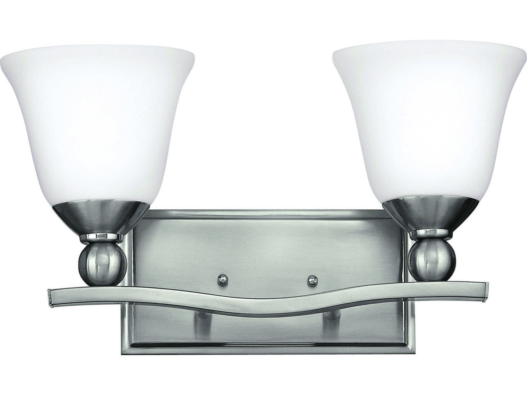 Hinkley Lighting Bolla Brushed Nickel Two-Light CFL Vanity Light HY5892BNGU24
