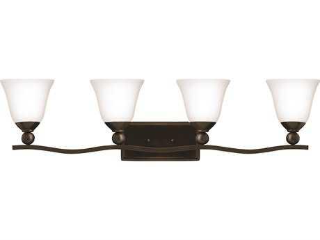 Hinkley Lighting Bolla Olde Bronze Four-Light Incandescent / Opal Glass Vanity Light