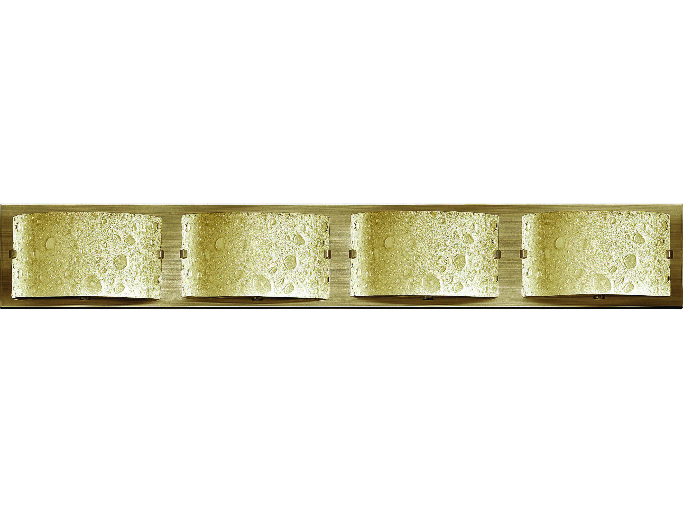 Hinkley lighting daphne brushed bronze four light led vanity light hy5924brled for Brushed bronze bathroom lighting