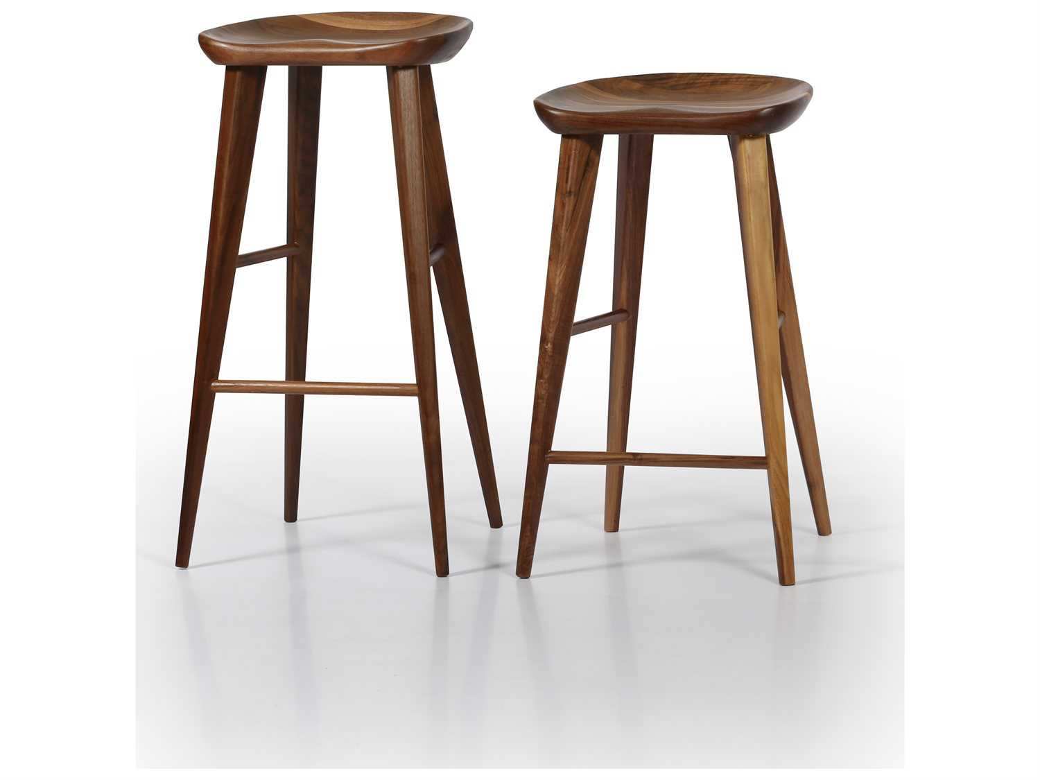 Ion Design Taburet Walnut Counter Stool With Matte Finish