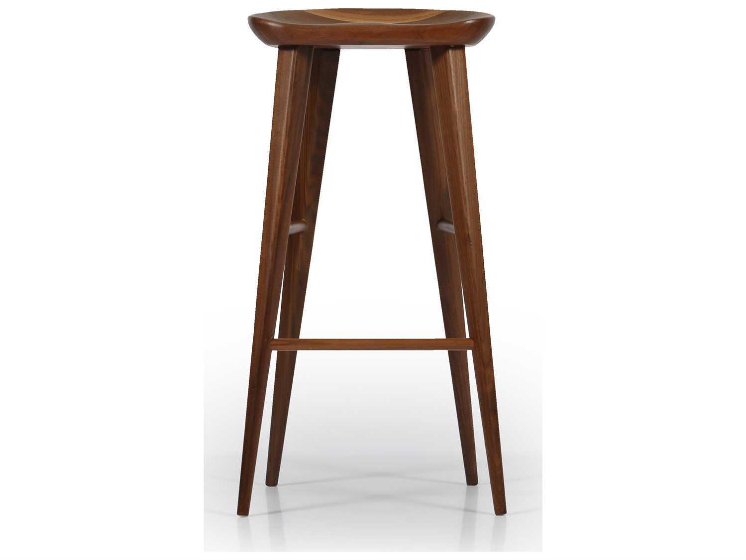 taburet stool ~ ion design taburet walnut counter stool with matte finish