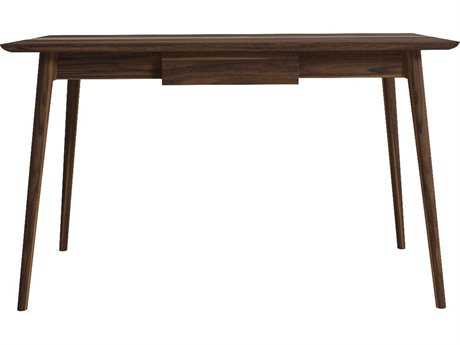 ION Design Vintage Black Walnut 51'' x 28'' One Drawer Rectangular Accent Desk with Natural Wax Finish