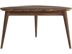 ION Design Vintage Black Walnut 36'' x 36'' Tripod Coffee Table with Natural Wax Finish