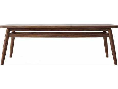 ION Design Twist Black Walnut 47'' x 18'' Rectangular Coffee Table with Natural Wax Finish