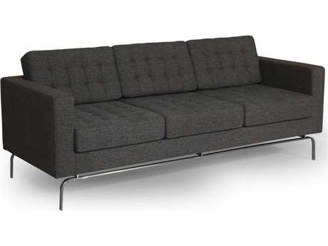 ION Design Drake Sofa Couch (Calico Pearl 50105 Fabric & Stainless Steel Legs)