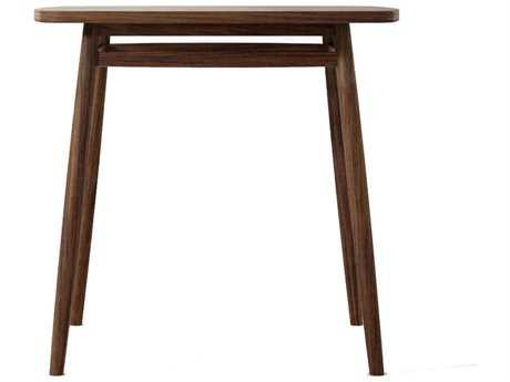ION Design Twist Black Walnut 31.5'' Square Dining Table with Natural Wax Finish