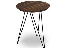 Ion Design Solo Marble Top 18 Round End Table With Gold