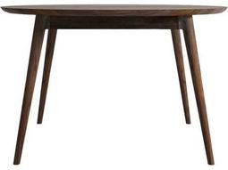 ION Design Vintage American Black Walnut 48'' Round Dining Table with Natural Wax Finish