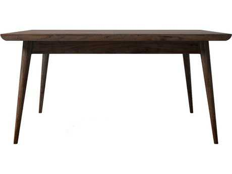 ION Design Vintage American Black Walnut 38'' Square Coffee Table with Natural Wax Finish