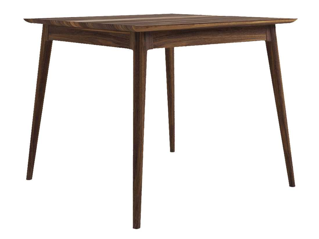 e2dc381bda81 ... ION Design Vintage American Black Walnut 48   Square Dining Table with  Natural Wax Finish