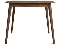ION Design Vintage American Black Walnut 48'' Square Dining Table with Natural Wax Finish