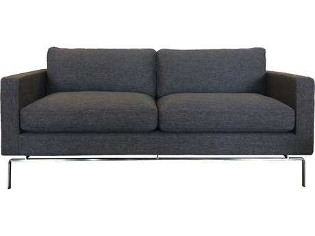 ION Design Darwin Brown Sofa with Chrome Legs