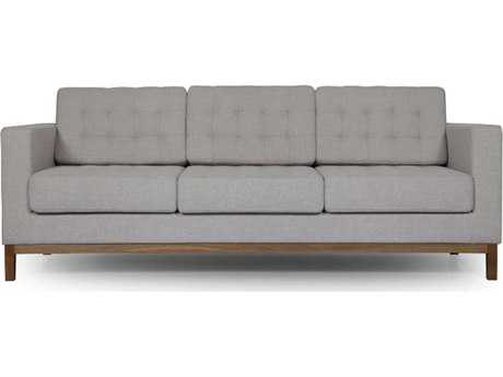ION Design Dixon Beige Sofa with Walnut Legs