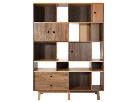 ION Design Brooklyn Reclaimed Hard Wood 63'' x 13.75'' Bookcase