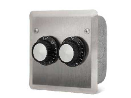 Infratech In Wall Control Assemblies For Indoor Or Protected Outdoor Areas - Dual