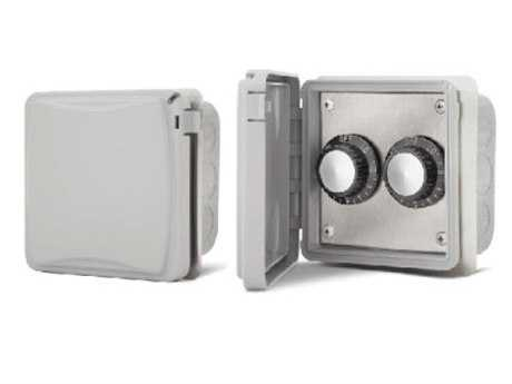 Infratech In Wall Control Assemblies With Weather Proof Cover For Exposed Interior Areas - Dual