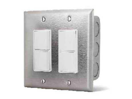 Infratech Dual Duplex Switch Wall Plate & Gang Box 20 Amp Per Pole - Dual