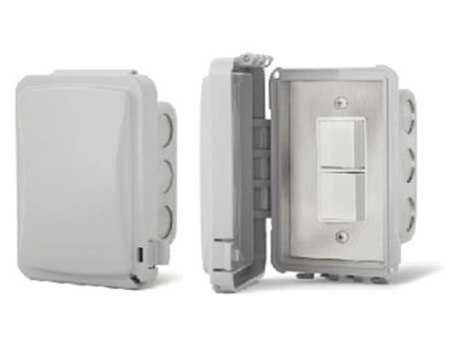 Infratech In Wall Duplex Switches With Weather Proof Cover For Exposed Exterior Areas PatioLiving