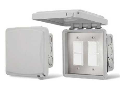Infratech In Wall Duplex Switches With Weather Proof Cover For Exposed Exterior Areas - Dual PatioLiving
