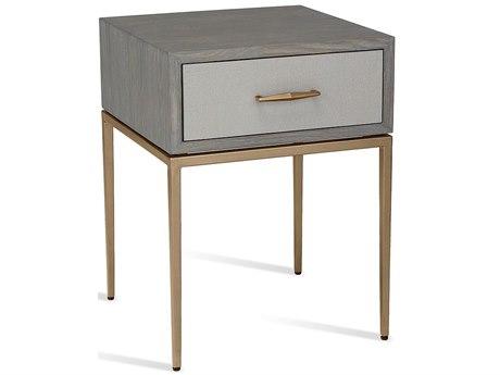 Interlude Home Grey Wash Oak/ Light Grey/ Antique Brass 1 Drawer Nightstand