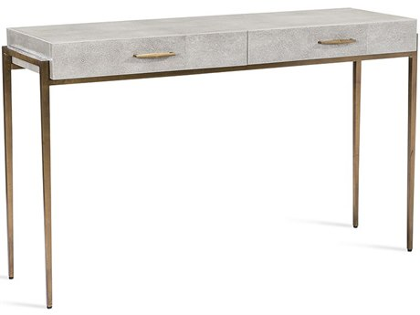 Interlude Home Morand Grey 48'' x 16'' Rectangular Desk / Console