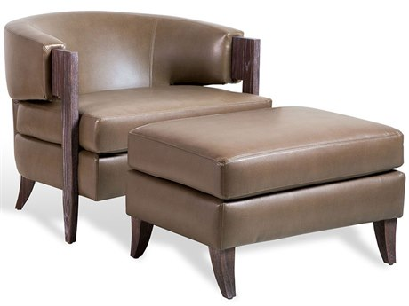 Interlude Home Mink/ Dark Cerused Oak Accent Chair