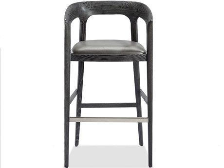 Interlude Home Charcoal Ceruse/ Slate Grey Side Bar Height Stool