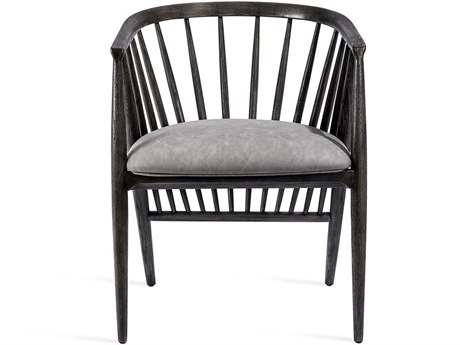 Interlude Home Distressed Charcoal/ Vintage Grey Arm Dining Chair