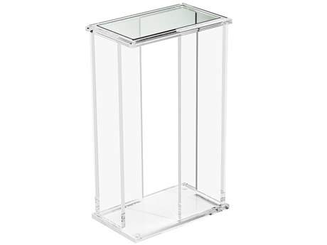 Interlude Home Clear/ Clear Glass 13'' Wide Rectangular End Table IL158082