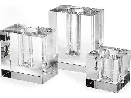 Interlude Home Callie Set of Three Crystal Vases