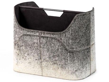 Interlude Home Natural Grey/ Polished Nickel Magazine Rack IL445017