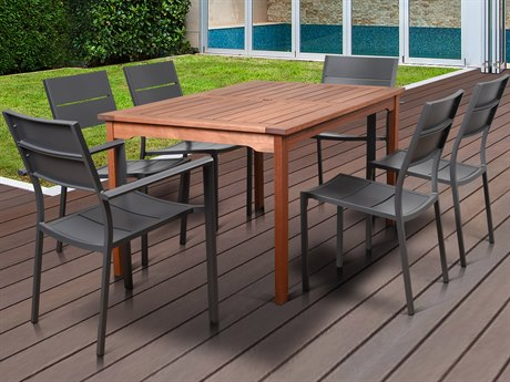 International Home Miami Amazonia Koningsdam 7 Piece Rectangular Dining Set
