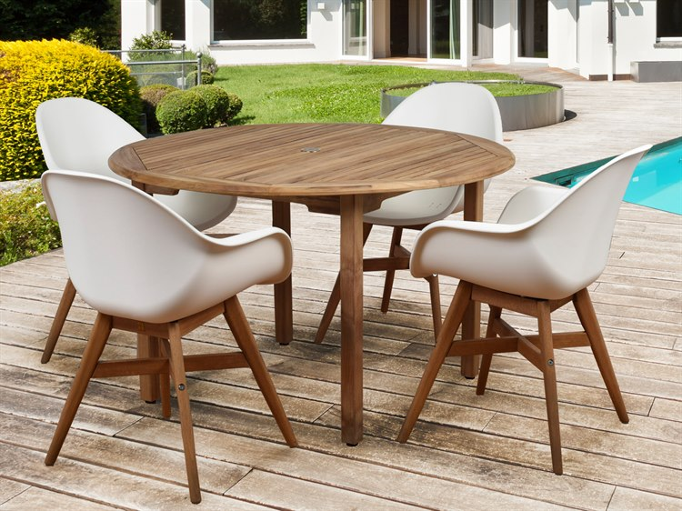 International Home Miami Amazonia Charlotte Deluxe 5 Piece Round Dining Set
