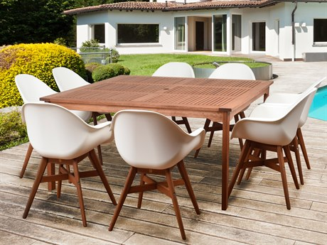 International Home Miami Amazonia Charlotte Deluxe 9 Piece Square Dining Set