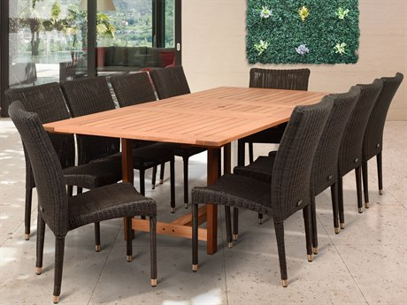 International Home Miami Amazonia Catania 11 Piece Rectangular Dining Set