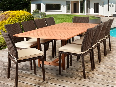 International Home Miami Amazonia Damian 11 Piece Rectangular Dining Set