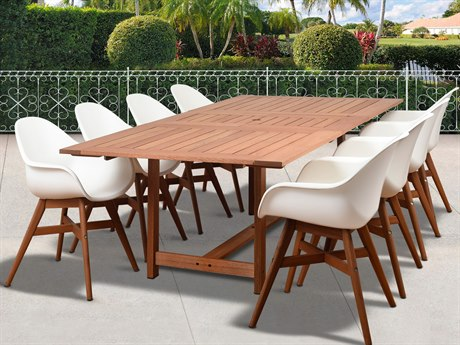 International Home Miami Amazonia Charlotte Deluxe 9 Piece Rectangular Dining Set