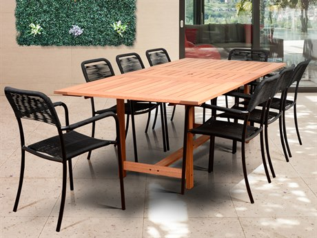 International Home Miami Amazonia Oosterdam 9 Piece Rectangular Dining Set