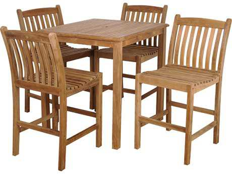 International Home Miami  Amazonia Teak Five Piece Eden Bar Set