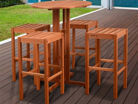 International Home Miami Amazonia Westerdam 5 Piece Bar Set