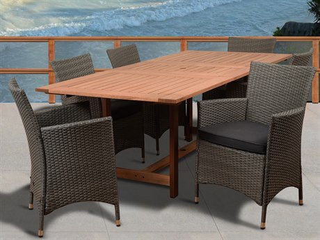 International Home Miami Amazonia Damian 7 Piece Rectangular Dining Set