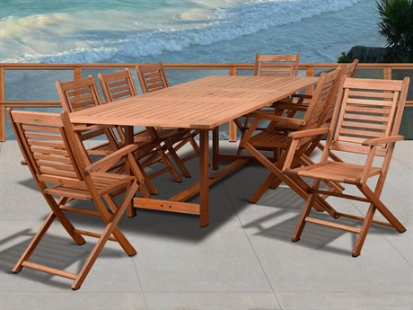 International Home Miami Amazonia Brandon 9 Piece Rectangular Dining Set