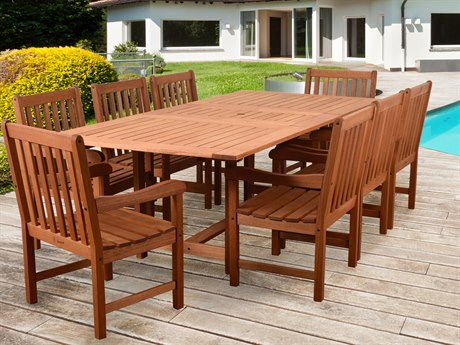 International Home Miami Amazonia Bristol 9 Piece Rectangular Dining Set