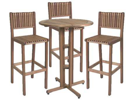 International Home Miami  Amazonia Eucalyptus Four Piece Ibiza Bar Set
