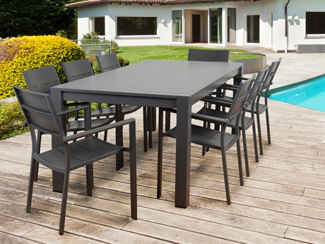 International Home Miami Atlantic Koningsdam 9 Piece Rectangular Dining Set